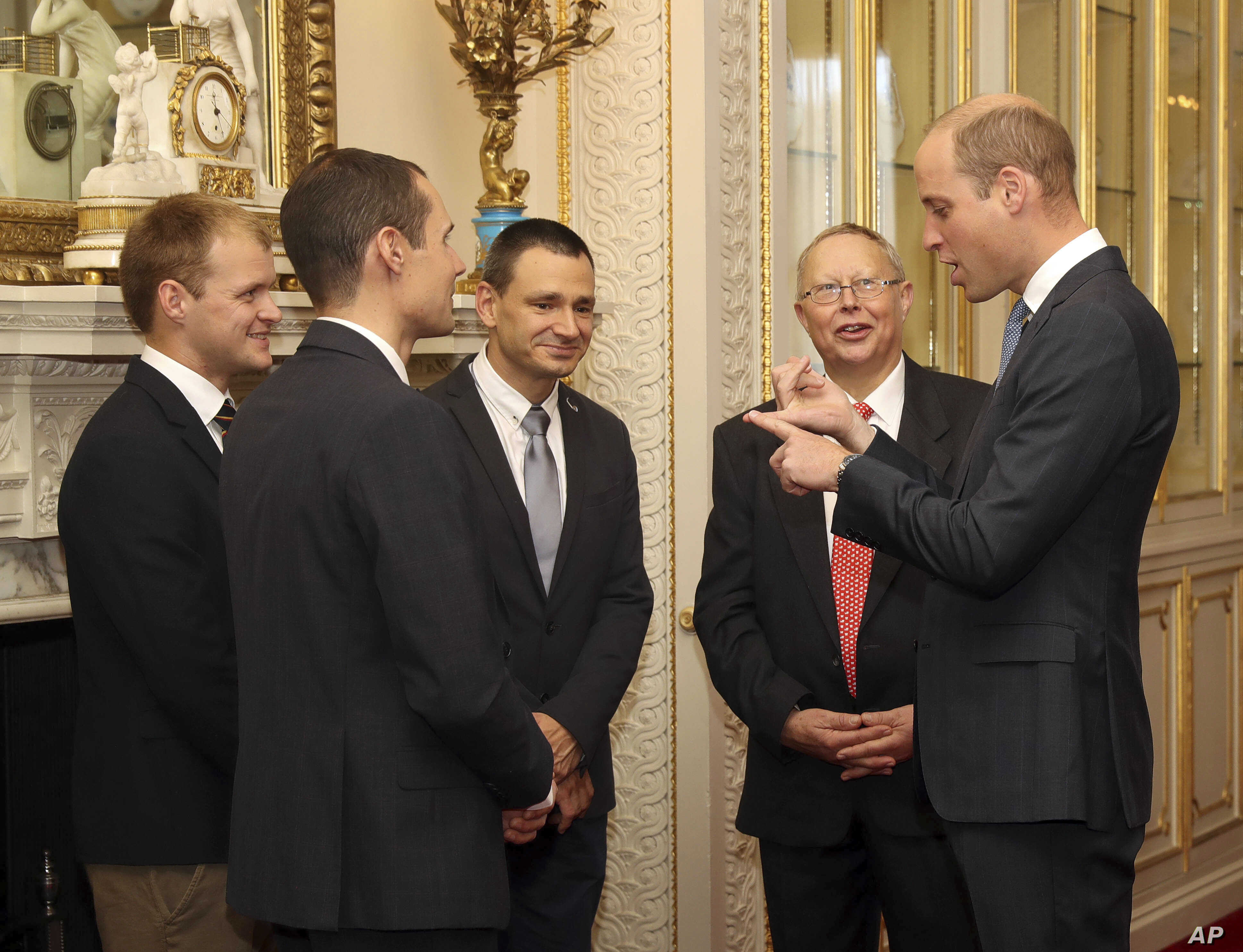 On Oct. 16, 2018, Prince William hosts a reception at Buckingham Palace to recognize the extraordinary contribution made by British rescue divers and support staff in the rescue of 12 boys and their soccerl coach from the Tham Luang Cave in Thailand.