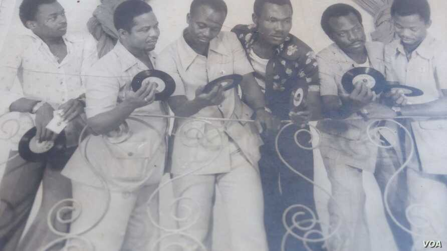 "Musicians of the  Orchestra ""Echo-Del-Africa back in the days. The groups songs are part of ""Bobo Yeye"" a compilation"