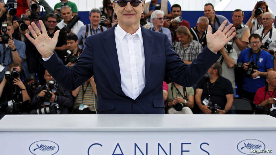 """German director Wim Wenders poses during a photocall for his documentary film """"Pope Francis: A Man of His Word"""" at the 71st Cannes Film Festival, in Cannes, France, May 13, 2018."""