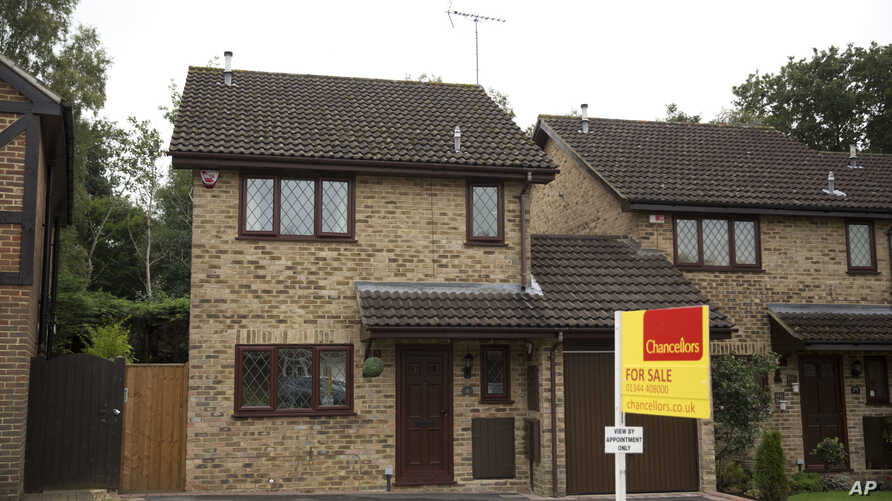 An exterior view shows the house for sale that starred onscreen as Harry Potter's childhood home in Bracknell, England, Sept. 20, 2016.