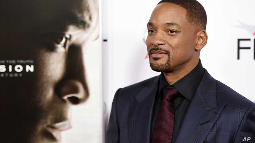 "Will Smith, star of ""Concussion,"" poses at the world premiere gala screening of the film during the 2015 AFI Fest at the TCL Chinese Theatre on Nov. 10, 2015, in Los Angeles."