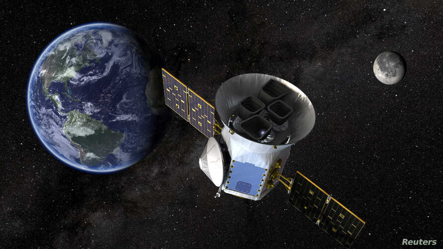 TESS, the Transiting Exoplanet Survey Satellite, is shown in this conceptual illustration obtained by Reuters on March 28, 2018.