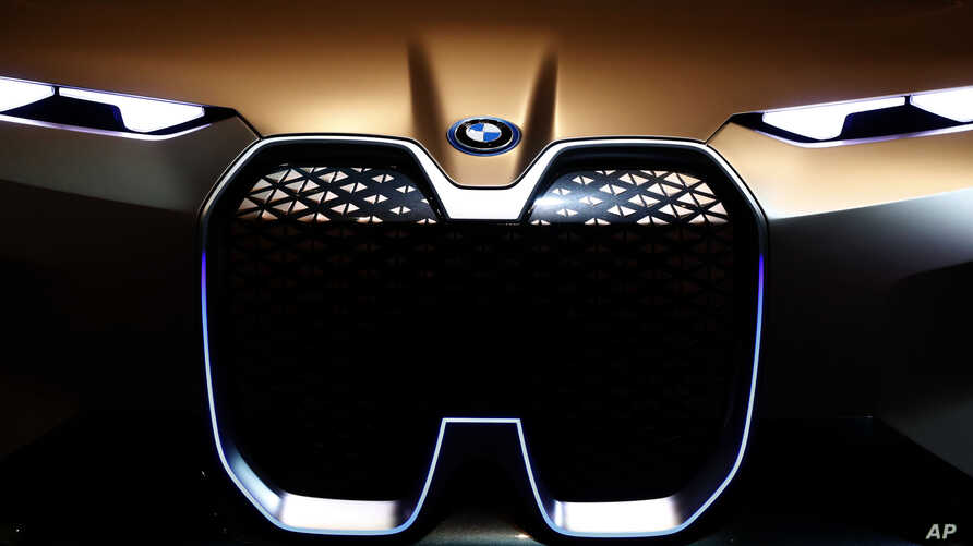 A BMWi car is pictured during the earnings press conference in Munich, Germany, Wednesday, March 20, 2019.
