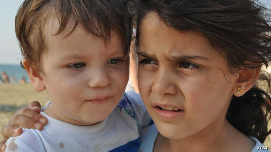 Manar Qarra, general manager of Selam Orphanage in Gaziantep, Turkey, snapped this photo of two children from  the orphange during a trip to the beach.