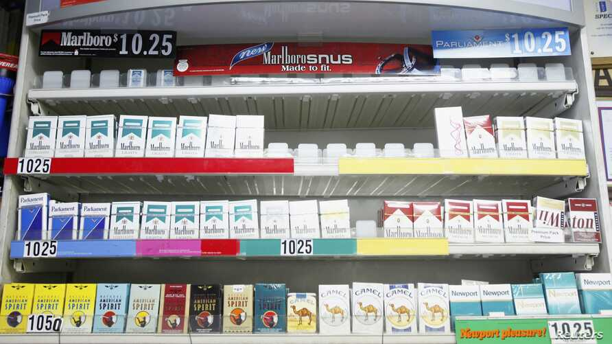 Cigarettes displayed in a store in New York, March 30 2010 file photo.