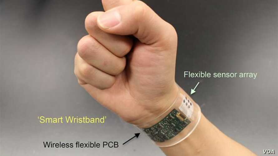 "The flexible sensor developed at UC Berkeley can be made into ""smart"" wristbands or headbands that provide continuous, real-time analysis of the chemicals in sweat."