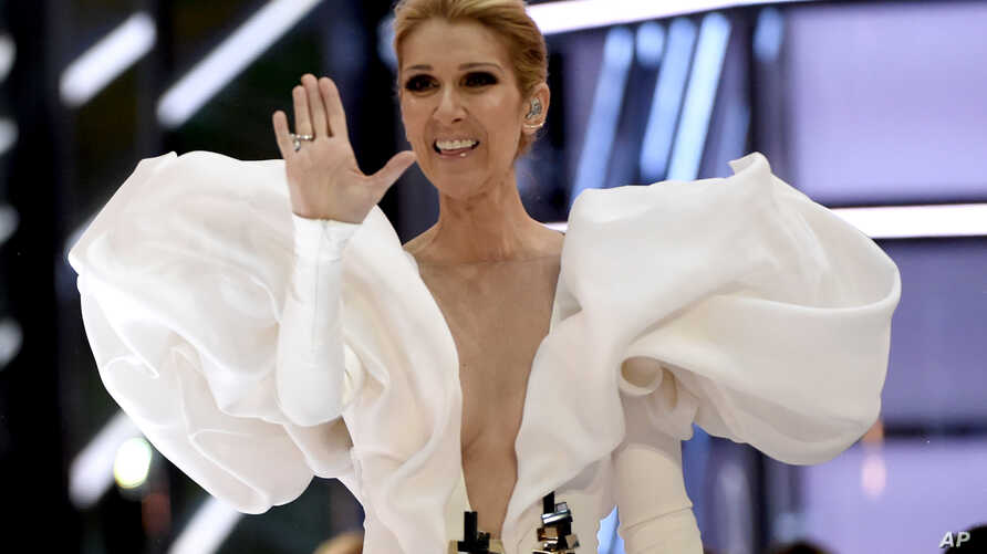 """FILE - Celine Dion performs """"My Heart will Go On"""" at the Billboard Music Awards at the T-Mobile Arena on May 21, 2017, in Las Vegas."""