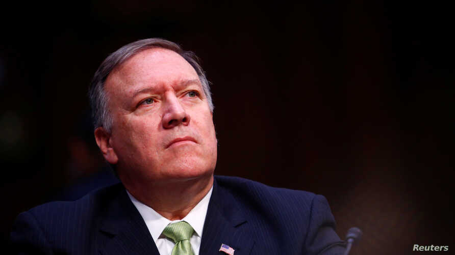 FILE - Central Intelligence Agency Director Mike Pompeo testifies before the U.S. Senate Select Committee on Intelligence on Capitol Hill in Washington, May 11, 2017.