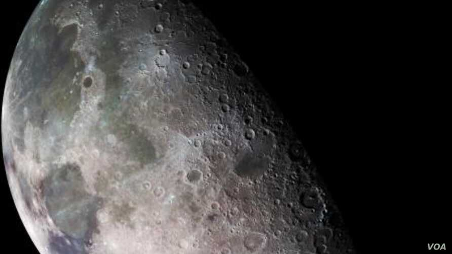 Image of the moon, from the Galileo spacecraft, Dec. 7, 1992.