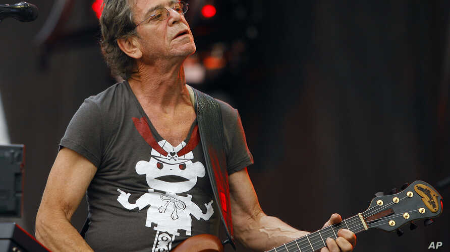 Lou Reed performs at the Lollapalooza music festival, in Chicago, Aug. 9, 2009.