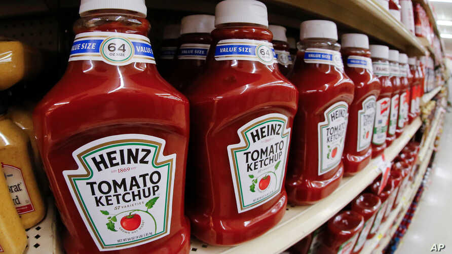 FILE - Heinz Ketchup for sale in a market in Pittsburgh, Feb. 21, 2018.