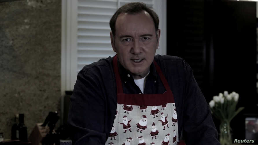 Actor Kevin Spacey in a still image taken from a YouTube video released on December 24, 2018.