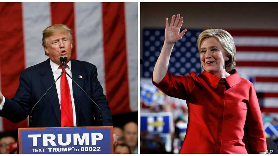 Republican presidential candidate Donald Trump, right, won South Carolina's Republican primary, while Democratic presidential candidate Hillary Clinton won Nevada's Democratic caucuses, Feb. 20, 2016.