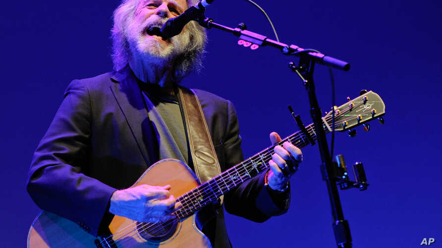 "FILE - In this April 23, 2014 file photo, musician Bob Weir performs at the premiere of ""The Other One: The Long, Strange Trip of Bob Weir"" during the 2014 Tribeca Film Festival in New York."