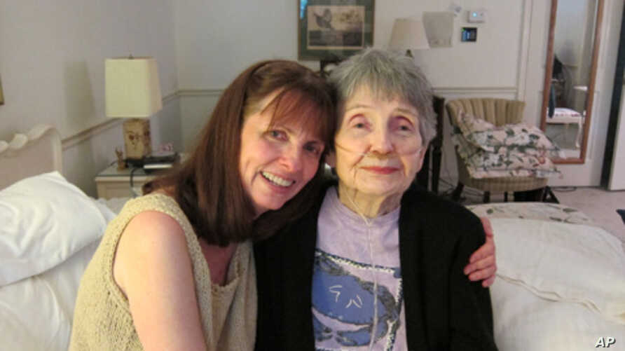 Gail Moore and her mother Dorothy recorded their StoryCorps Legacy interview at the older woman's home, where she now lives under hospice care