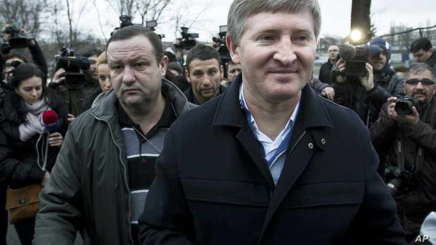 FILE - Ukrainian steel and coal magnate and Shakhtar Donetsk football club owner Rinat Akhmetov is seen in a Jan. 8, 2012, photo.
