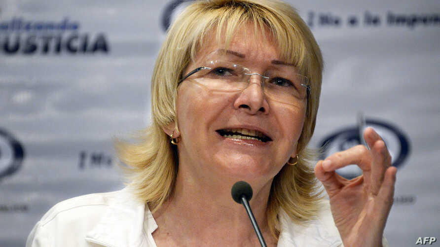 FILE - Venezuela's General Attorney Luisa Ortega Diaz during a press conference in Caracas, Oct. 21, 2013.