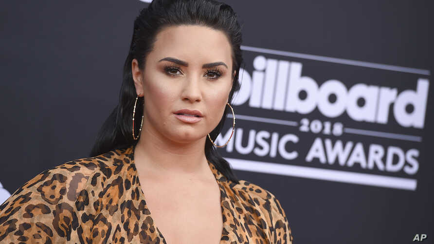 Demi Lovato arrives at the Billboard Music Awards at the MGM Grand Garden Arena on May 20, 2018, in Las Vegas.