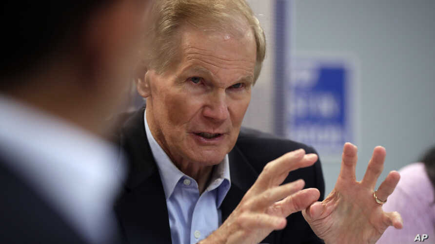 FILE - Sen. Bill Nelson, D-Fla., speaks during a roundtable discussion with education leaders in Miami, Aug. 6, 2018.