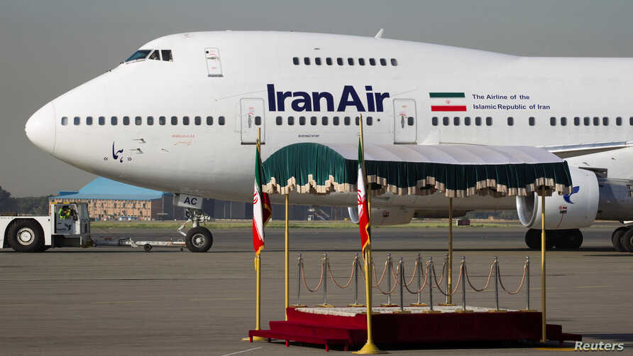 FILE - A IranAir Boeing 747SP aircraft is pictured before leaving Tehran's Mehrabad airport Sept. 19, 2011.