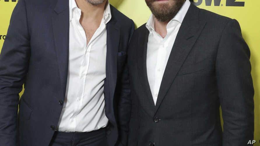 "Ryan Reynolds and Jake Gyllenhaal at Columbia Pictures World Premiere of ""Life"" the movie at SXSW 2017, March 18, 2017, in Austin, Texas."