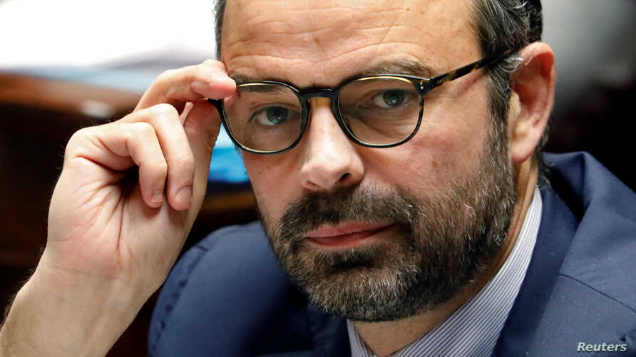 French Prime Minister Edouard Philippe is pictured during the questions-to-the-government session at the National Assembly in Paris, Jan. 30, 2018.