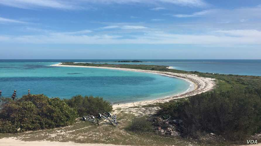 The remote islands of the Dry Tortugas provide visitors with opportunities to learn about American history and the area's diverse land and sea animals.