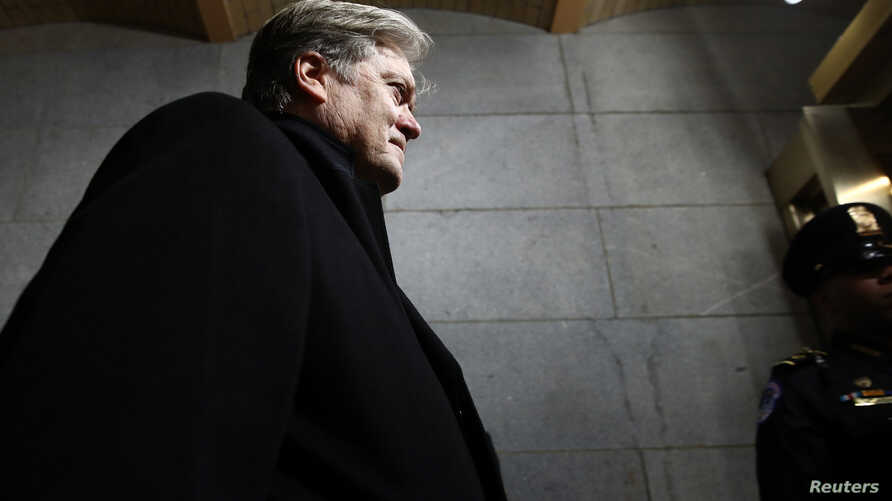 Senior Counselor to the President Steve Bannon arrives before the presidential inauguration on the West Front of the U.S. Capitol in Washington, D.C., U.S., January 20, 2017.