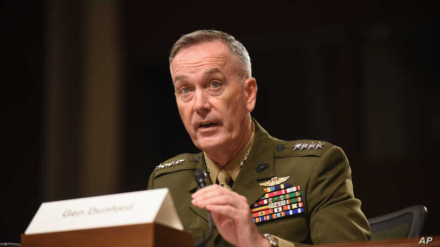 Joint Chiefs Chairman Gen. Joseph Dunford testifies on Capitol Hill in Washington, Oct. 27, 2015.