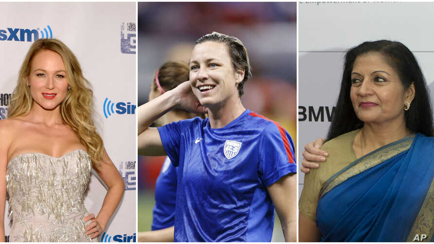 From left, Grammy-nominated singer-songwriter Jewel,  World Cup champion Abby Wambach and Assistant Secretary-General of the United Nations Lakshmi Puri attended a recent U.N. Gender Equality event.