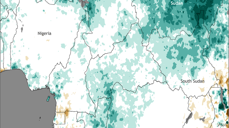 Percent of normal rainfall from May to September 2016 in Africa (NOAA)