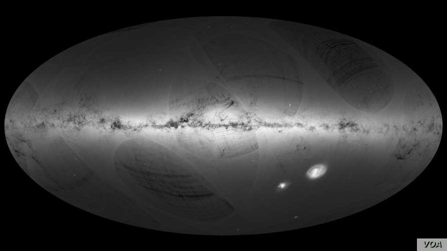 An all-sky view of stars in our Galaxy – the Milky Way – a
