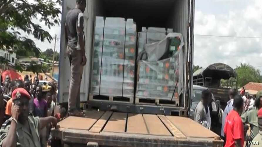 Ammunition transported by military truck out of Awae, April 4, 2018.