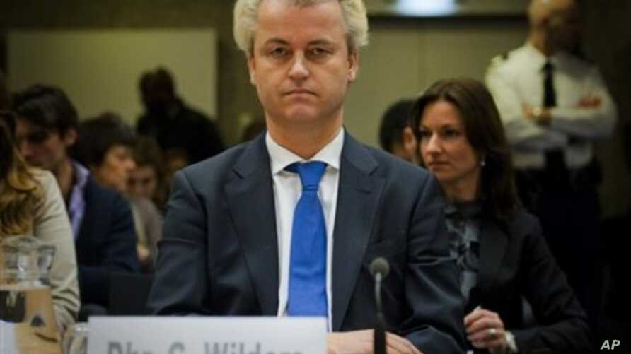The Dutch anti-Islam lawmaker Geert Wilders returns to court in Amsterdam, Netherlands, February 7, 2011, as a second set of judges considered how his trial for alleged hate speech should continue.