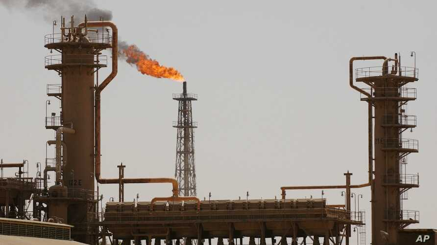 FILE - Iraq's largest oil refinery in the northern town of Baiji, Iraq.