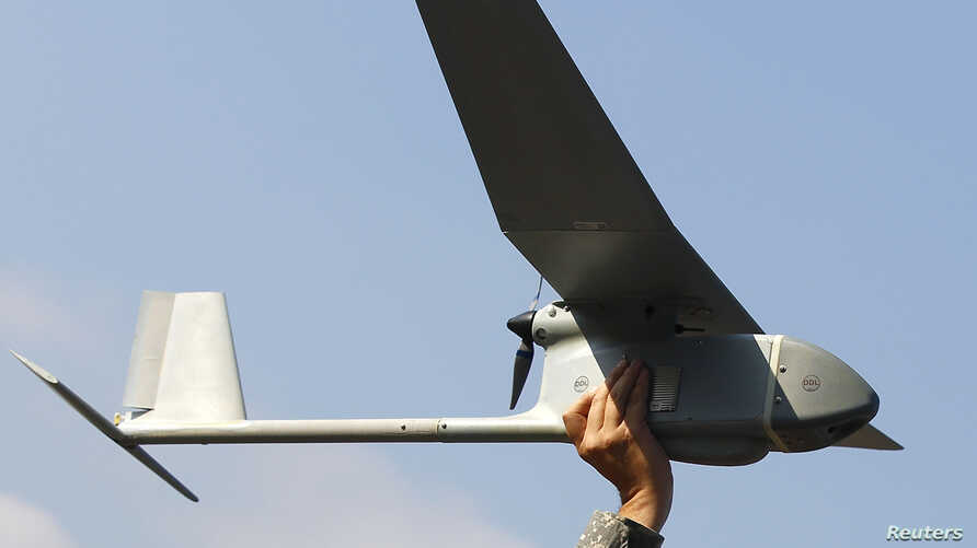 A Raven drone is pictured at the U.S. military base in Vilseck-Grafenwoehr, Germany, Oct. 8, 2013.