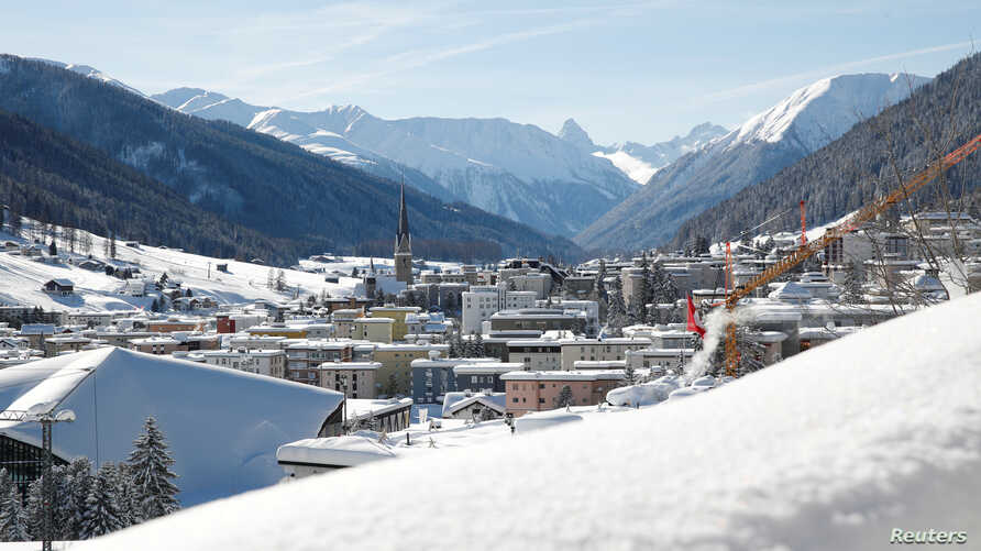 A general view shows the mountain resort of Davos, Switzerland Jan. 15, 2019.