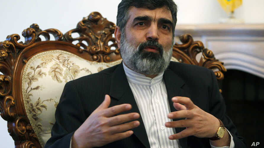 FILE -  Behrouz Kamalvandi speaks during a press conference.