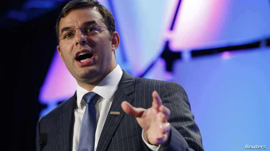 U.S. Rep. Justin Amash (R-MI) speaks at the Liberty Political Action Conference in Chantilly, Virginia Sept. 19, 2013.