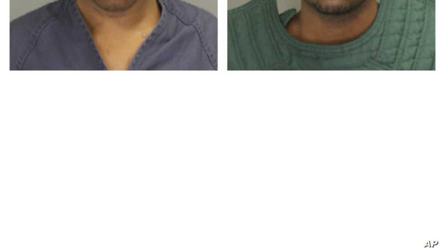 These photos provided by the Oakland County (Mich.) sheriff's office show Shadeed Dontae Bey, left, and Nikey Dashone Walker, who have been charged in an attack on a man with cerebral palsy.