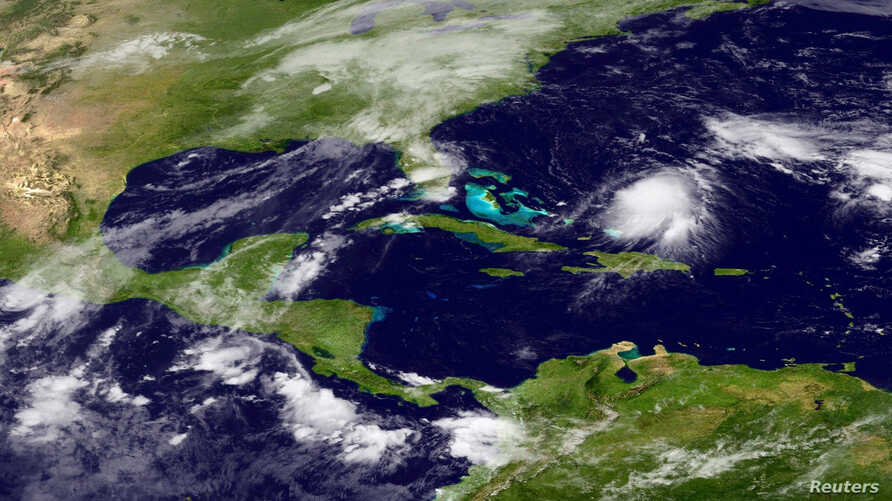 Tropical Storm Joaquin is seen approaching the Bahamas in this NOAA Goes-East satellite image taken September 29, 2015.