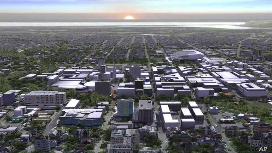 An undated artist impression shows the Christchurch downtown projects planned for a new-look after the New Zealand city was reduced to rubble by an earthquake in 2011, July 30, 2012.