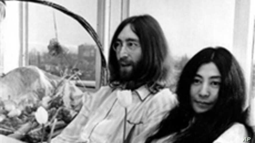 John Lennon and Yoko Ono held two week-long Bed-Ins for Peace in Amsterdam and Montreal to protest the US war in Vietnam. Here the couple is pictured at the Hilton Hotel in Amsterdam on March 25, 1969.