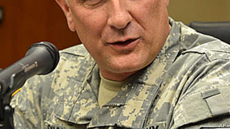 Sergeant Major of the US Army, Raymond Chandler III, speaking to reporters at 8th Army HQ, (Yongsan, Seoul, November 7, 2011)