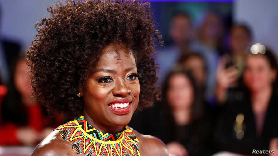 FILE - Actor Viola Davis arrives for the world premiere of Widows at the Toronto International Film Festival (TIFF) in Toronto, Canada, Sept. 8, 2018.