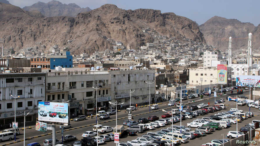 FILE - A general view of the southern port city of Aden, Yemen, Jan. 22, 2018. A rare tropical cyclone is threatening the city.