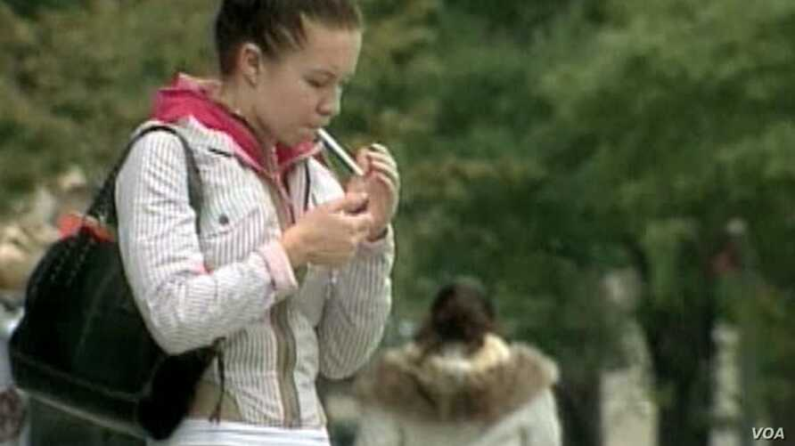 Tobacco kills about six million people each year throughout the world.