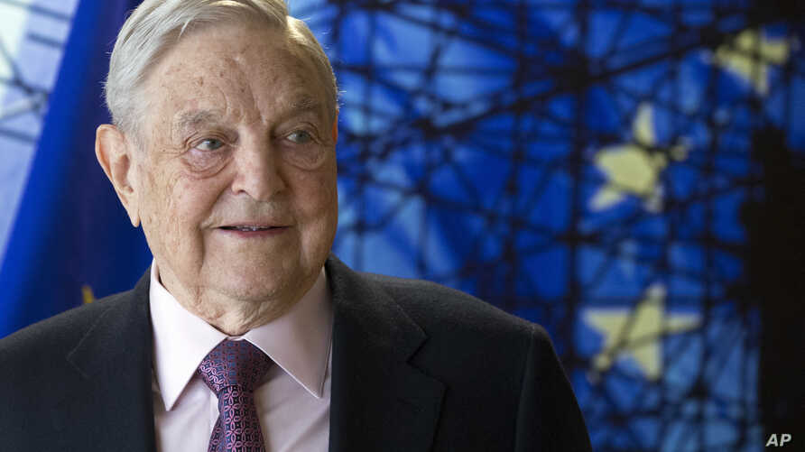 FILE - This is a  April 27, 2017, photo of George Soros, Founder and Chairman of the Open Society Foundation, as he waits  for the start of a meeting at EU headquarters in Brussels.
