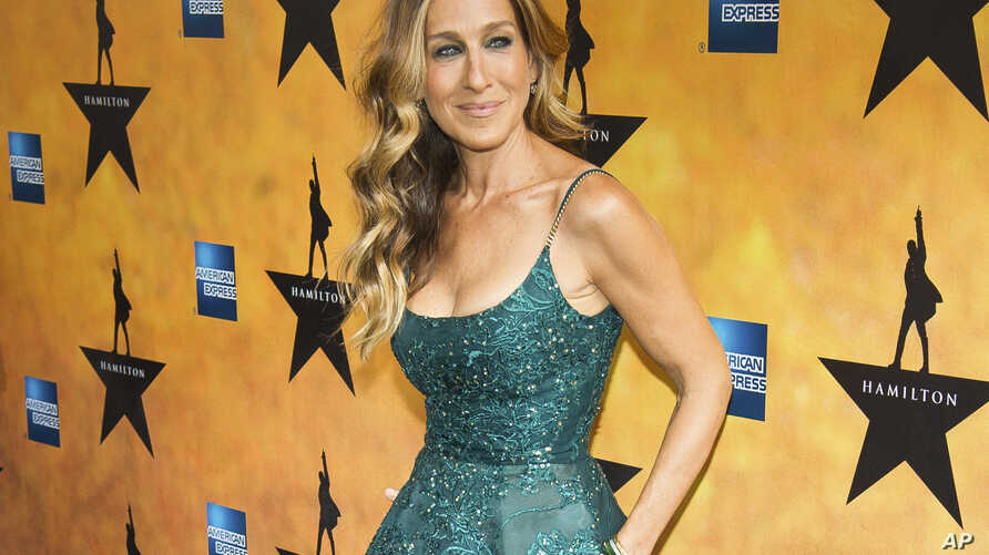 """FILE - Sarah Jessica Parker attends the Broadway opening night of """"Hamilton"""" in New York."""