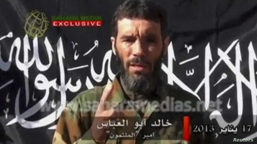 Veteran jihadist Mokhtar Belmokhtar speaks in this undated still image taken from a video released by Sahara Media on January 21, 2013.